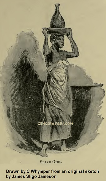 Slave girl, from a sketch by James Sligo Jameson.